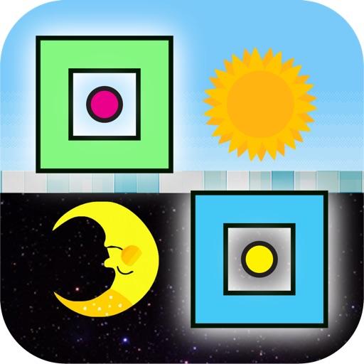 Square Dash Upside Down - Geometry Icon iOS App