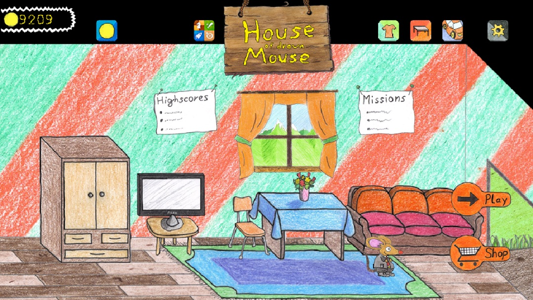 House Of Drawn Mouse Is A Highscore Jump U0027nu0027 Run Game. Beat The Highscore  Of Your Friends In GameCenter And Pimp The House Of Drawn Mouse With  Furniture Or ...