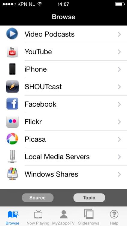Media Player for Panasonic Viera TVs by ZappoTV, Inc