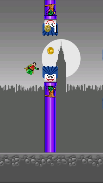 Flappy League of Heroes - Bat Justice Begins in the metropolis of Gotham, NY! screenshot-3
