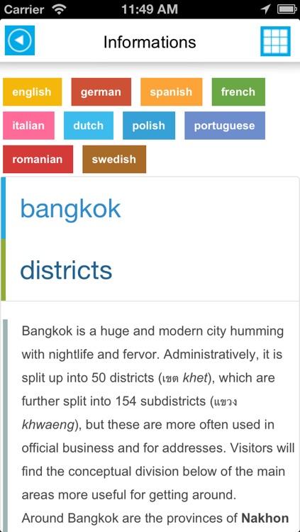 Bangkok offline map, guide & hotels screenshot-4