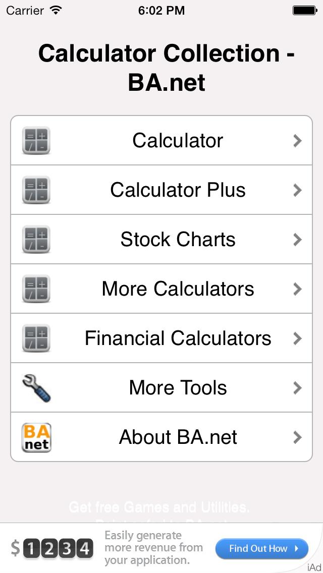 Calculator Collection Free BA.net screenshot three