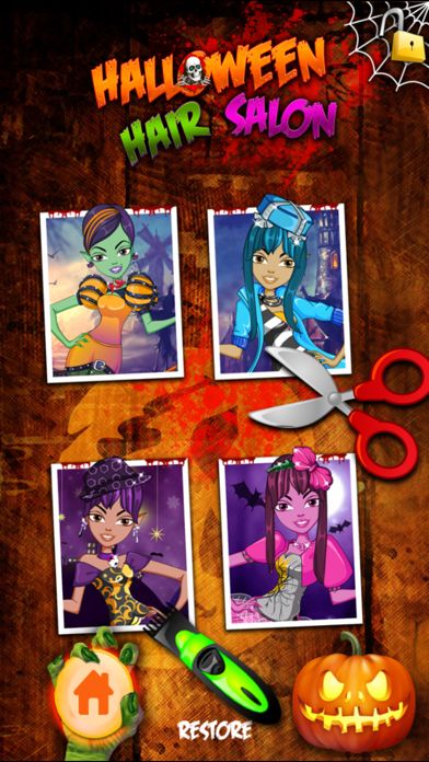 Kids New Halloween Hair Salon game for hair style makeover screenshot two