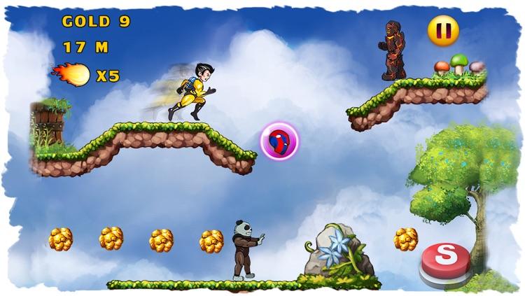 Super Hero Action JetPack Man - Best Super Fun Mega Adventure Race Game screenshot-3