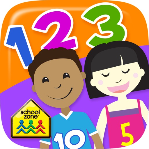 Numbers Flash Cards from School Zone iOS App