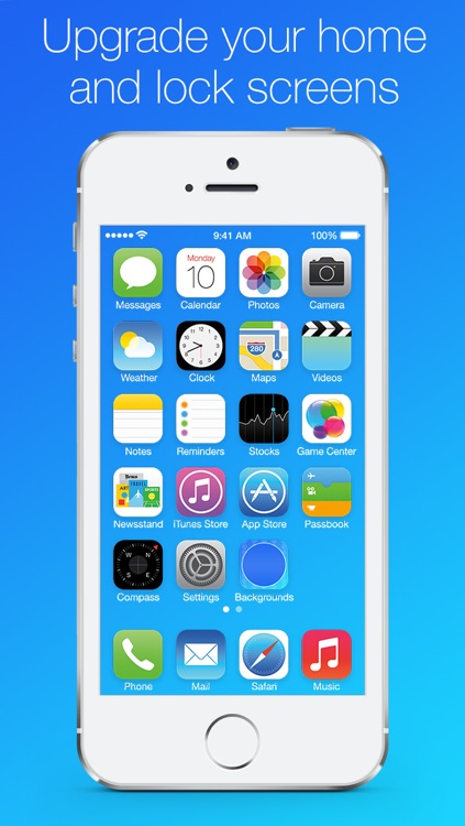 Blurred Backgrounds, Wallpapers and Lock Screens for iOS 7