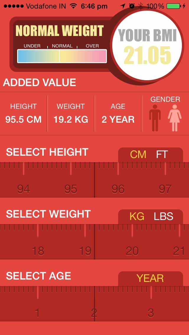 Instant BMI Calculator for Women & Men - Test Your Body Mass Index Screenshot on iOS
