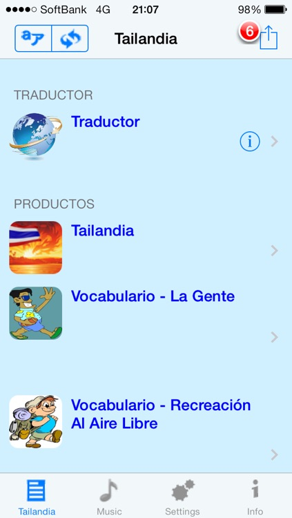 Tailandés - Talking Spanish to Thai Translator and Phrasebook screenshot-3
