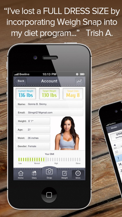 Weight Snap - Personal Fitness, Health And Weight Tracking Diary screenshot-3