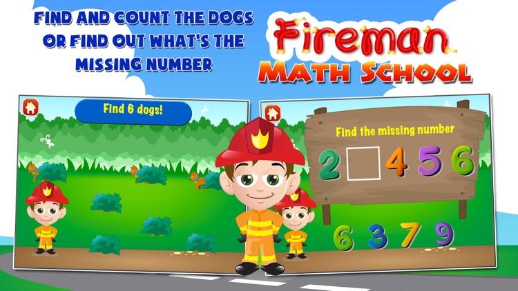 Fireman Math School: Toddler and Preschool Kids Learning Games Free screenshot-4