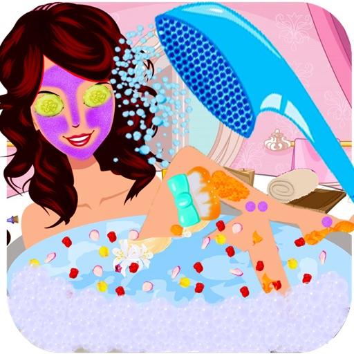 Маленькая красоты Принцесса Спа салон - Игры для девочек для лица, волос моды Makup & макияж