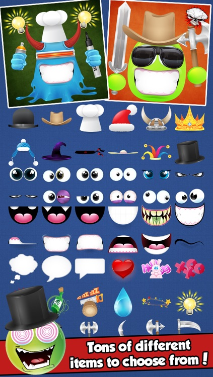 Blob Monster Avatar Creator - Make Funny Cartoon Characters for your Contacts or Profile Pictures