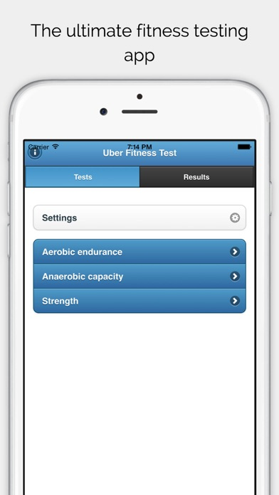 UFT - Uber Fitness Test screenshot two