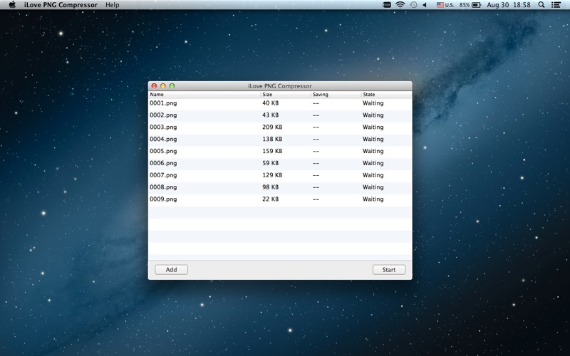 iLove PNG Compressor for Mac