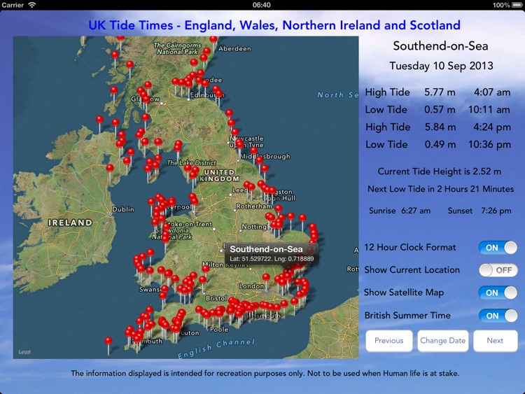 UK Tide Times Pro screenshot-0