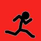 courageux stickman - sauter et courir sous la pluie gratuit icon