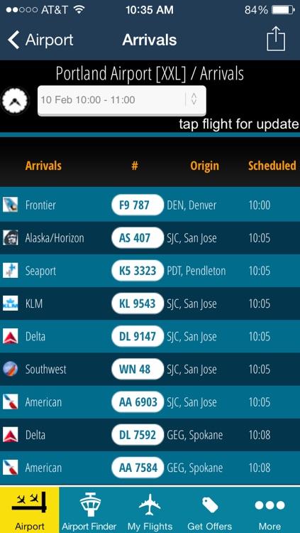 Portland Airport PDX + Flight Tracker Premium Alaska