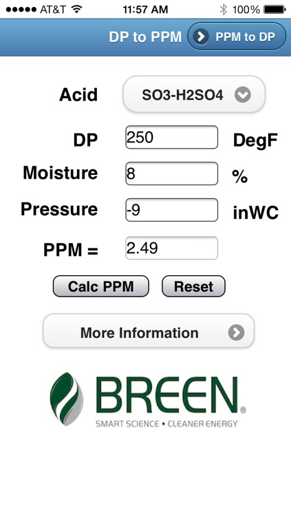 Dewpoint to PPM