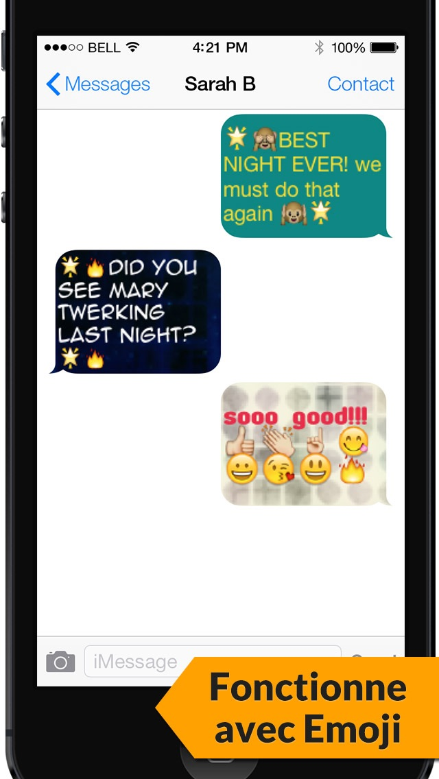 Screenshot for Messages texte en couleurs - Color Text Messages with Emoji 2 in Lebanon App Store