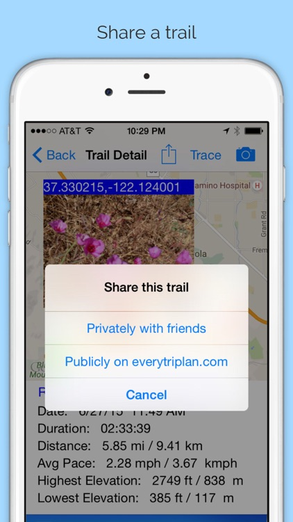 Trail Meter - Record and Share Trail Maps Hiking Routes with Photos and GPS Locations