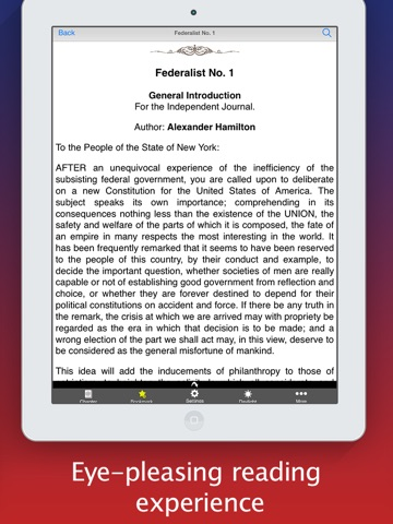 Screenshot of The Federalist Papers (All 85 Articles - PUBLIUS)