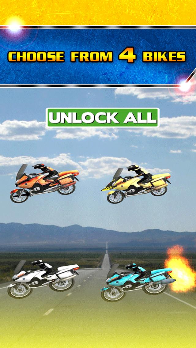 アサルト乗馬ストリートレースゲーム無料ではバトルレーサーの実行3Dダートバイクのおすすめ画像4