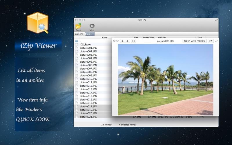 iZip Viewer Screenshot