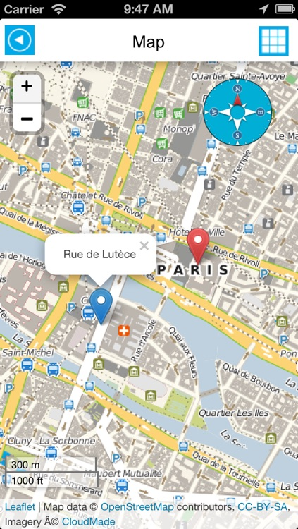 Paris offline map, guide & hotels screenshot-1