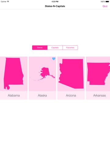 Screenshot #4 pour States-N-Capitals