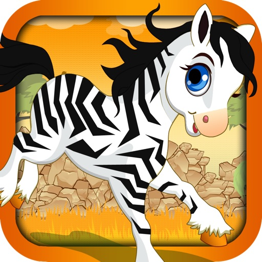 Zebra Runner - My Cute Little Zebra Running Game