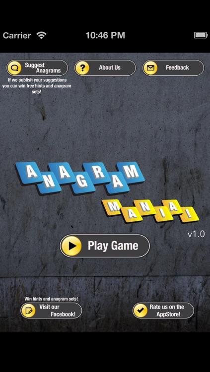 Anagram Mania! Free screenshot-3