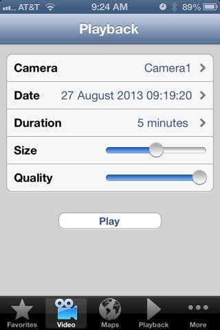 Screenshot of EyeRide Mobile DVR