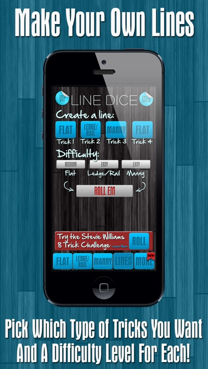 Line Dice Pro - Skate Flat, Ledges Or Mannies With Lines screenshot-3
