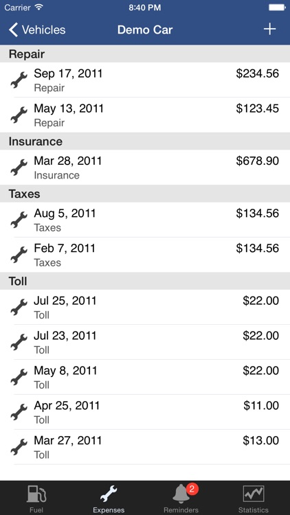 CarXpenses screenshot-4