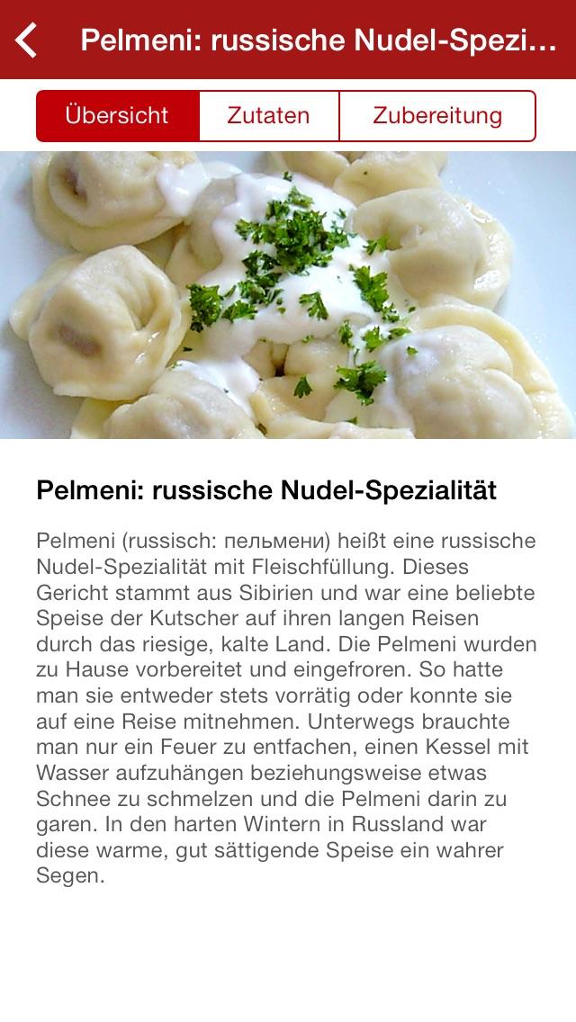 Screenshot for Russische Rezepte in Germany App Store