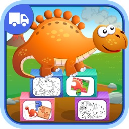 Dinosaurs Activity Center Paint & Play - All In One Educational Dino Learning Games for Toddlers and Kids