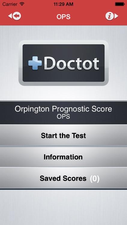 Orpington Prognostic Scale