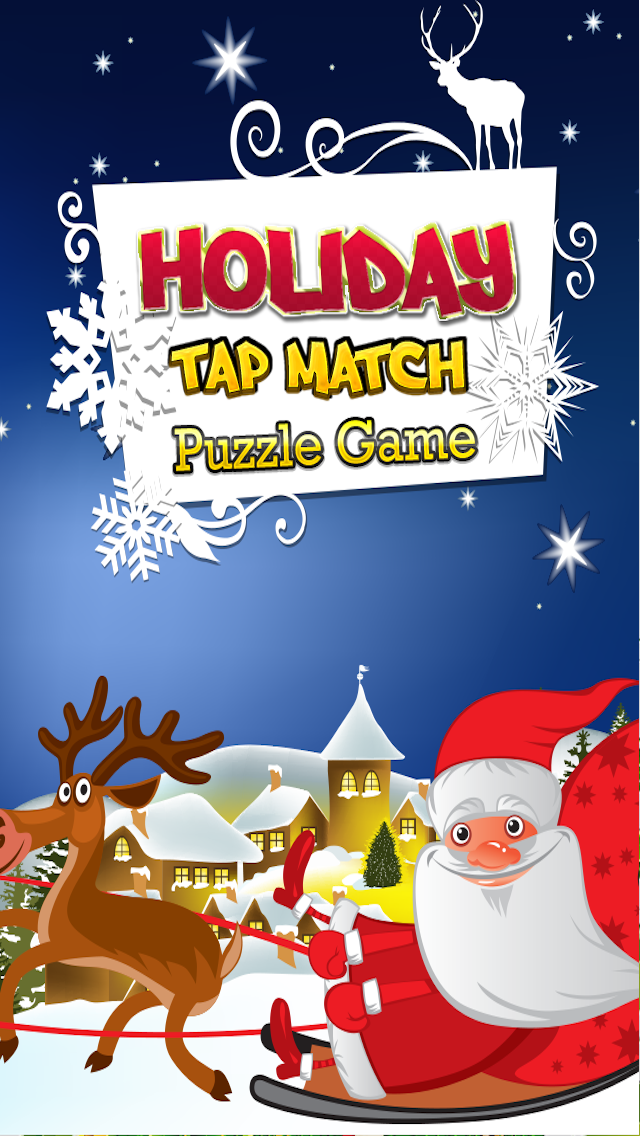 A Big Christmas Puzzle Tap Free Game - Match and Pop the