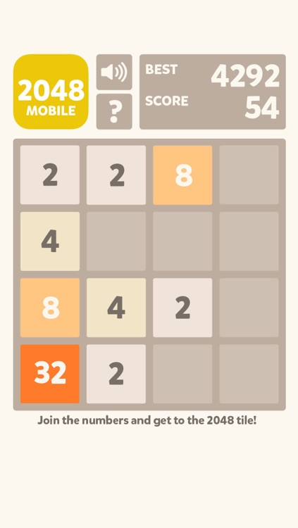 2048 Mobile Logic Game - Join the numbers screenshot-3