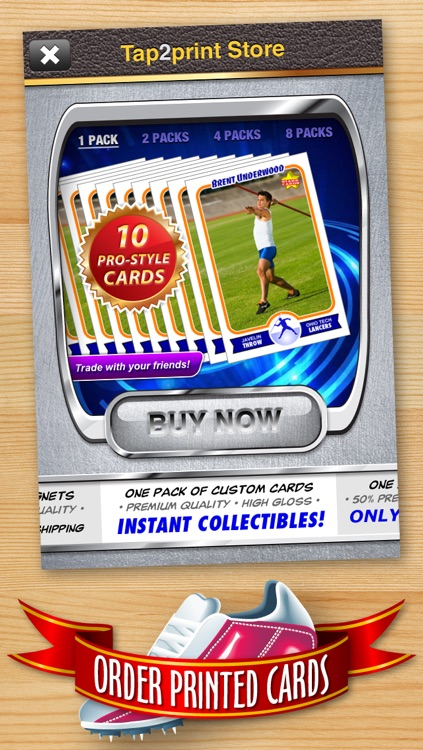 Track and Field Card Maker - Make Your Own Custom Track and Field Cards with Starr Cards screenshot-4