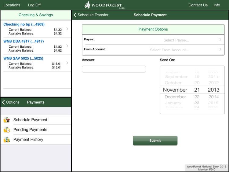 Woodforest bank account balance