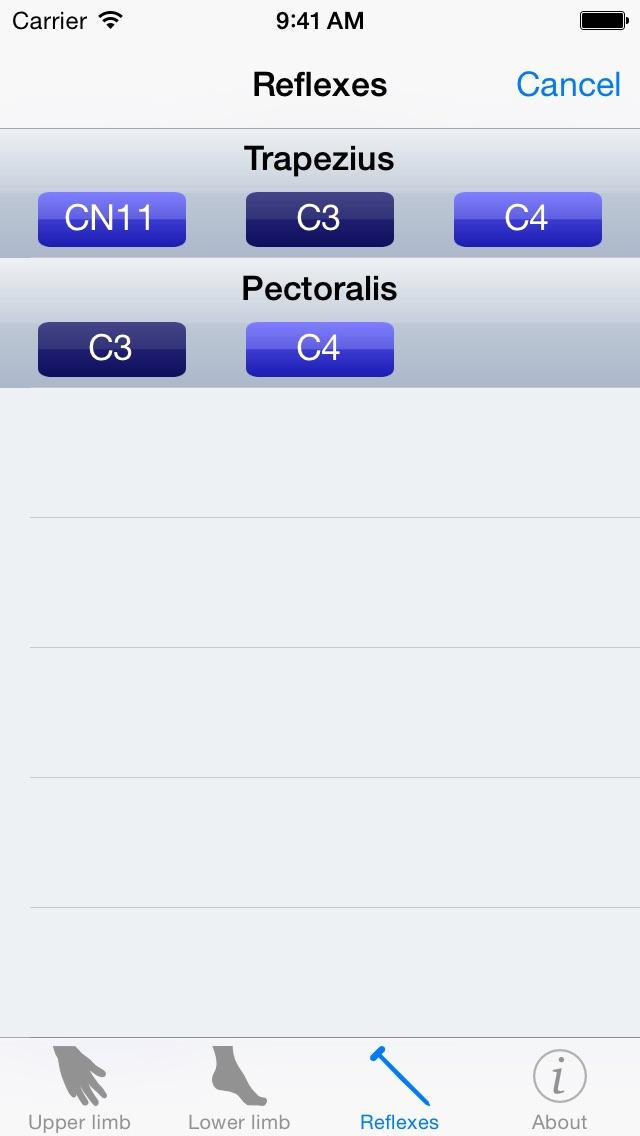 Screenshot for Myotomes in Denmark App Store
