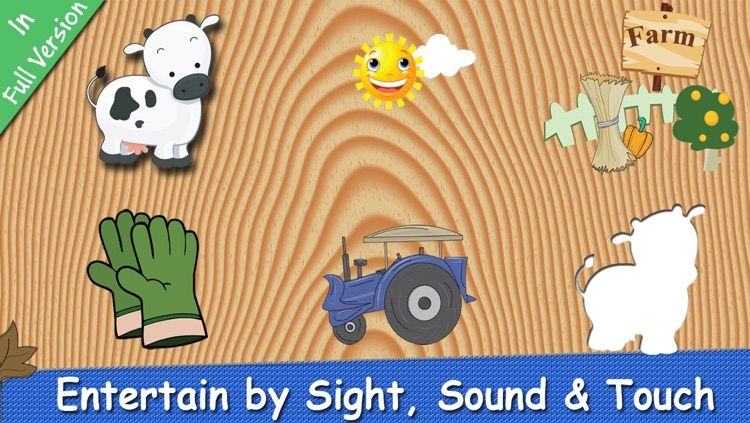 Farm Puzzle for Babies Free: Move Cartoon Images and Listen Sounds of Animals or Vehicles with Best Jigsaw Game and Top Fun for Kids, Toddlers and Preschool