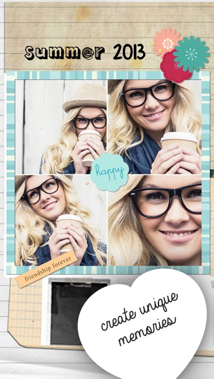 Cream & Sugar Hipster photo collages editor for a Tumblr tbh pic screenshot-3