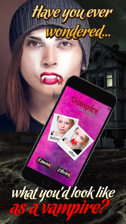 Vampire Face Maker - Turn Your Pic Into a Scary Monster! Photo Booth