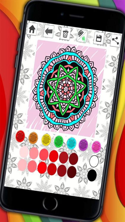 Mandalas coloring pages for adults - Premium