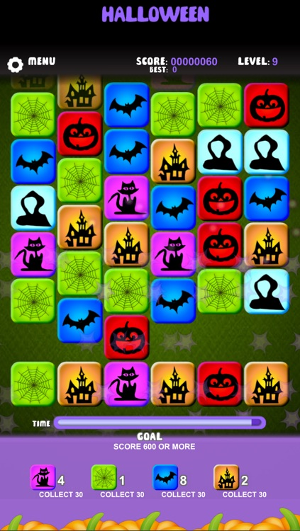 halloween match 3 tiles free edition