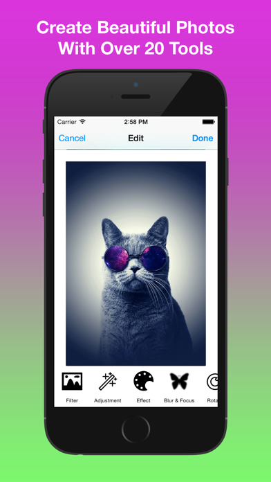 Free Photo Editor - Effects, More 20 Tools, Emoji, Stickers