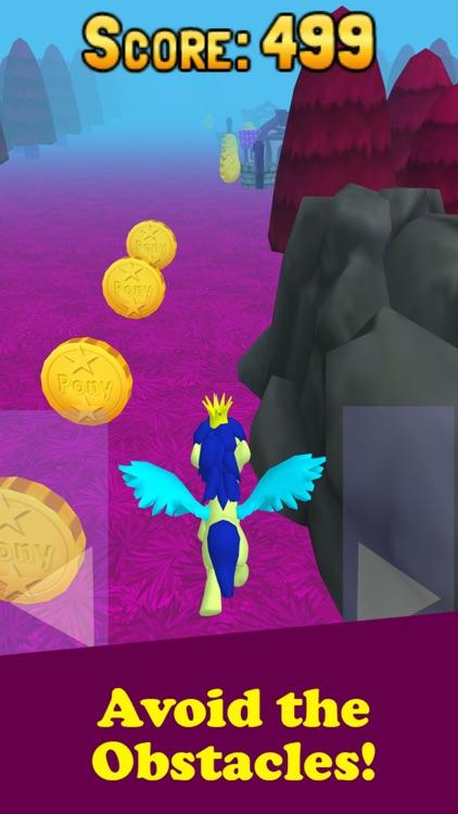 My Little Unicorn Dash 3D HD screenshot-3
