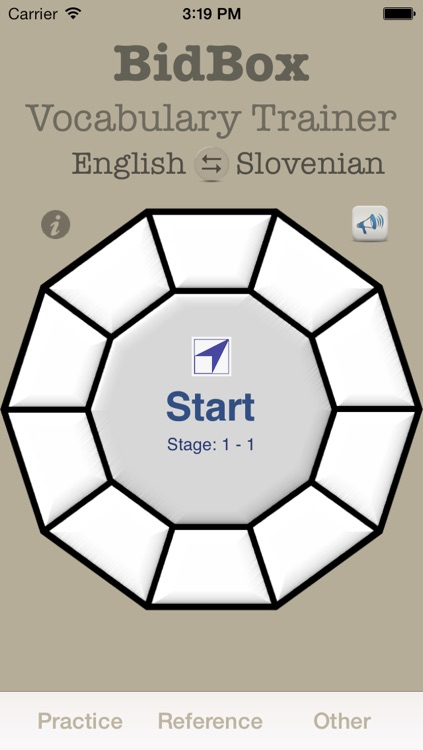 Vocabulary Trainer: English - Slovenian